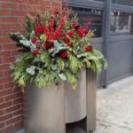 Chicago River North Holiday Planters