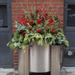 Chicago River North Holiday Planter