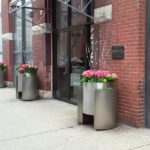 Spring in Chicago, River North planters