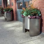 River North Chicago planters in autumn