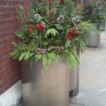 River North Chicago holiday planter
