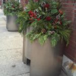 Chicago River North winter planter